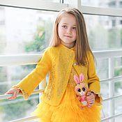 Работы для детей, handmade. Livemaster - original item Jacket felted yellow azalea. Handmade.