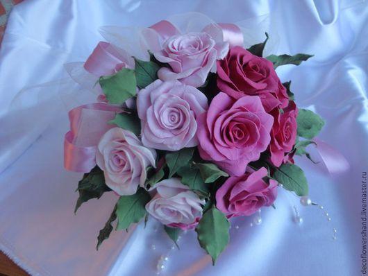 Светлые розы, чуть потемнее, темные всего 17шт