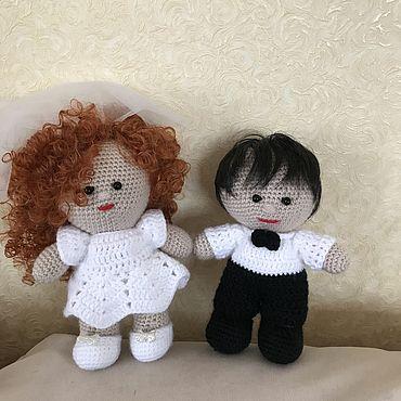 Куклы и игрушки ручной работы. Ярмарка Мастеров - ручная работа Игрушки: пупсы жених и невеста. Handmade.