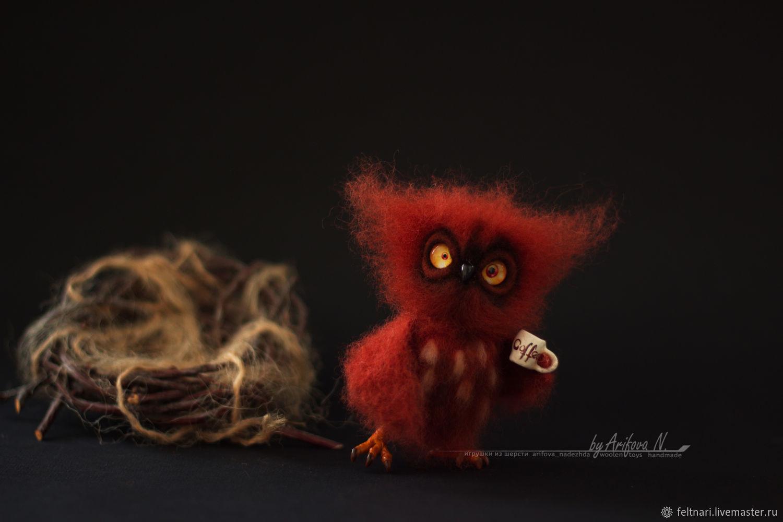 OWL. The toy is made of wool, Fun, Novorossiysk,  Фото №1
