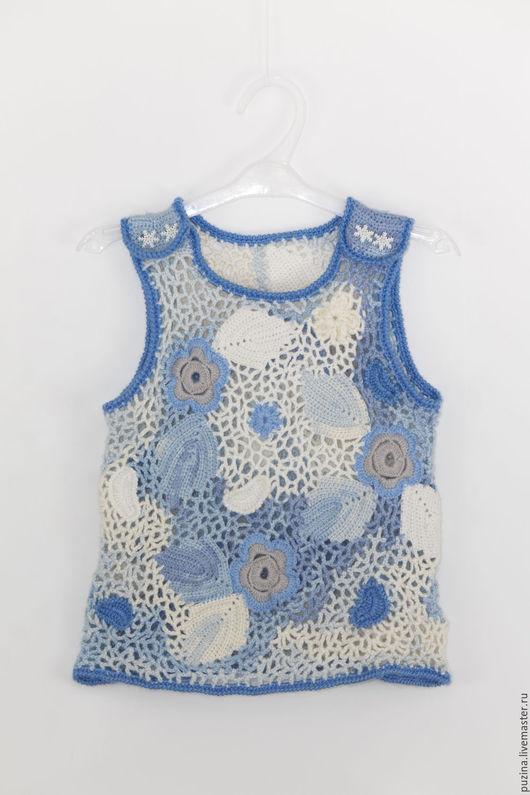Одежда для девочек, ручной работы. Ярмарка Мастеров - ручная работа. Купить Жилет Цвет зимы. Handmade. Жилет для девочки