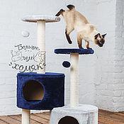 """Домик для питомца ручной работы. Ярмарка Мастеров - ручная работа Дом- когтеточка  для кошек  """"Мурзилка"""". Handmade."""