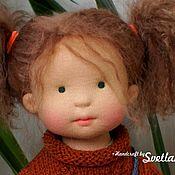 Куклы и игрушки ручной работы. Ярмарка Мастеров - ручная работа Оливия с куколкой, 42 см вальдорфская кукла ООАК. Handmade.