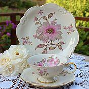 Винтаж handmade. Livemaster - original item Johan Seltmann.  Lovely tea trio. Germany.. Handmade.