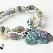 Украшения handmade. Livemaster - original item Necklace with pendant made from agate. Handmade.