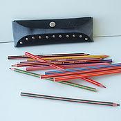 Канцелярские товары ручной работы. Ярмарка Мастеров - ручная работа Кожаный футляр для карандашей или крючков. Handmade.