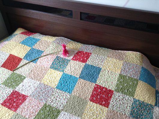 """Текстиль, ковры ручной работы. Ярмарка Мастеров - ручная работа. Купить Лоскутное одеяло """"Вдохновение"""". Handmade. Комбинированный, декор для дома"""