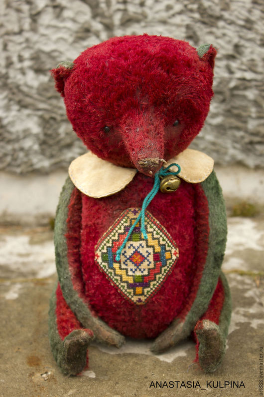 Мишки Тедди ручной работы. Ярмарка Мастеров - ручная работа. Купить мишка Тамара. Handmade. Бордовый, медведь тедди, синтепух
