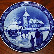 Винтаж handmade. Livemaster - original item Beautiful, Christmas plate, ,1985, Villeroy & Boch. Handmade.
