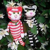 Куклы и игрушки ручной работы. Ярмарка Мастеров - ручная работа Коты полосатые. Два кота.. Handmade.