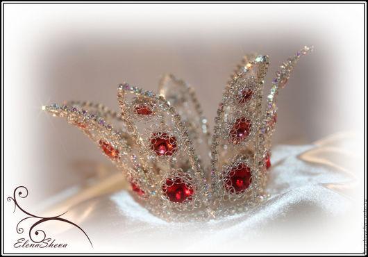 """Диадемы, обручи ручной работы. Ярмарка Мастеров - ручная работа. Купить Корона миниатюрная """" Принцесса"""". Handmade. Серебряный, ободок"""