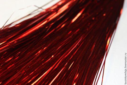 Вышивка ручной работы. Ярмарка Мастеров - ручная работа. Купить Металлические полоски Красный. Handmade. Металлические полоски, индийская вышивка