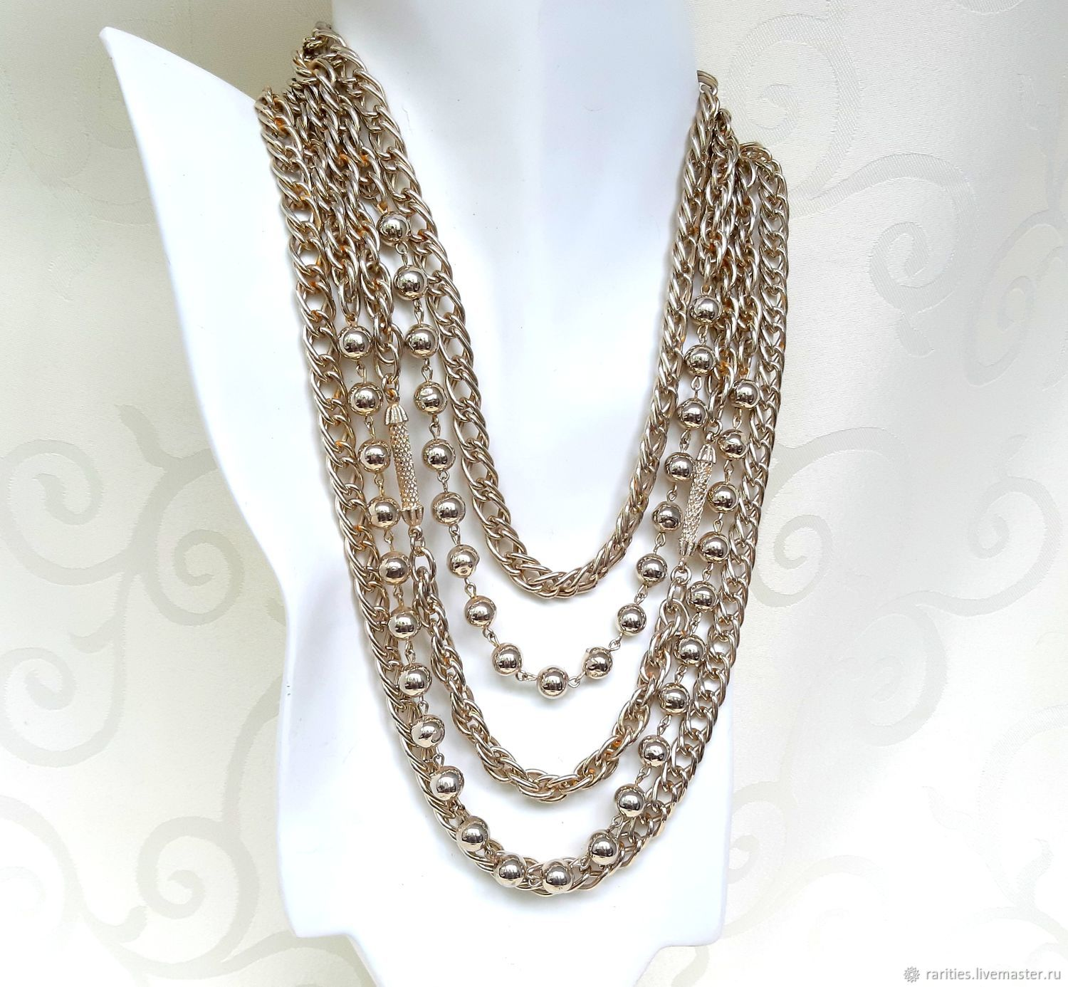 Chain necklace, KRAMER OF NEW YORK, USA, ,60s, Vintage necklace, Moscow,  Фото №1