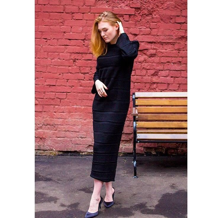 Dress knitted.Dress stylish.Dress bright.Dress for autumn, winter, Dresses, Moscow,  Фото №1