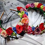 Украшения ручной работы. Ярмарка Мастеров - ручная работа Ободки с цветами. Handmade.
