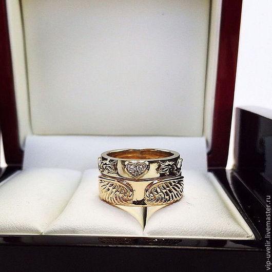 """Кольца ручной работы. Ярмарка Мастеров - ручная работа. Купить """"Романтики"""" оригинальные обручальные кольца. Handmade. Обручальные кольца, невеста"""