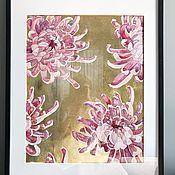 Картины ручной работы. Ярмарка Мастеров - ручная работа Хризантемы. Handmade.