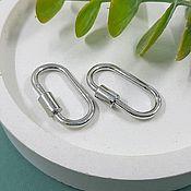 Материалы для творчества handmade. Livemaster - original item Lock carabiner 25.5x14x2. 5485.  mm color platinum (). Handmade.