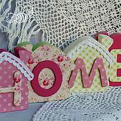 """Для дома и интерьера ручной работы. Ярмарка Мастеров - ручная работа Тильда-домики HOME, """"Малина и лайм"""", украшение интерьера. Handmade."""