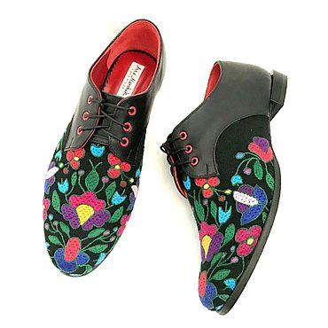 """Обувь ручной работы. Ярмарка Мастеров - ручная работа Броги """"Юлия». Handmade."""