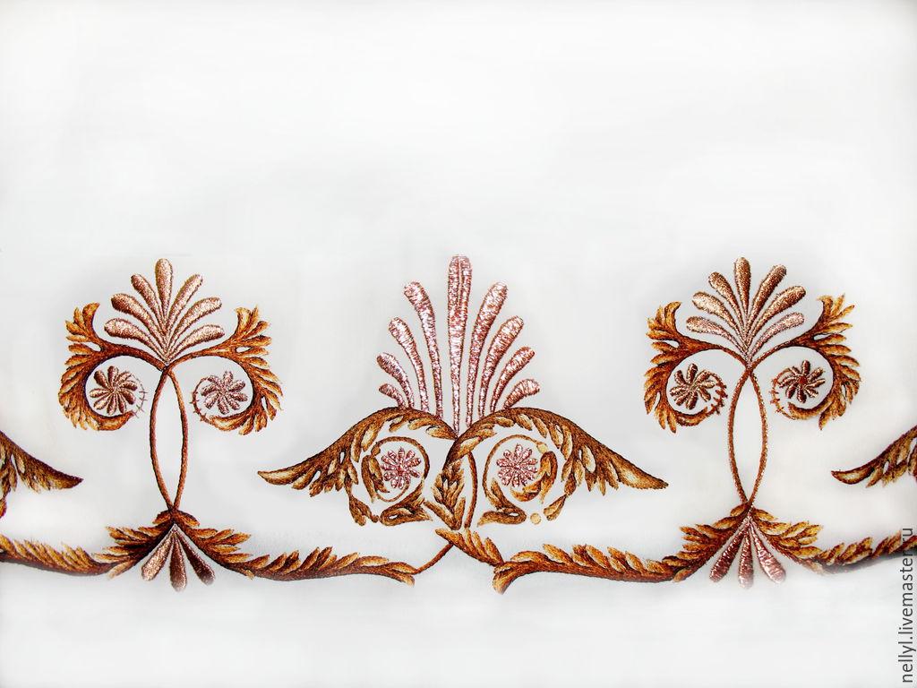 Текстиль, ковры ручной работы. Ярмарка Мастеров - ручная работа. Купить Вышитый орнамент. Handmade. Вышивка гладью, греция