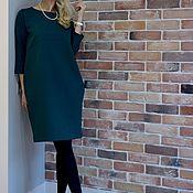 Одежда handmade. Livemaster - original item Dress made of thick Jersey Jersey emerald crystal. Handmade.