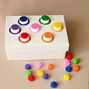 """Куклы и игрушки ручной работы. Ярмарка Мастеров - ручная работа Сортёр """"учим цвета"""". Handmade."""