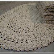 Для дома и интерьера handmade. Livemaster - original item Oval Crocheted Handmade Cord Mat. Handmade.
