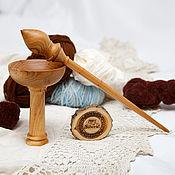 Материалы для творчества handmade. Livemaster - original item The spindle for spinning the base for the feet of the Siberian Elm #B40. Handmade.