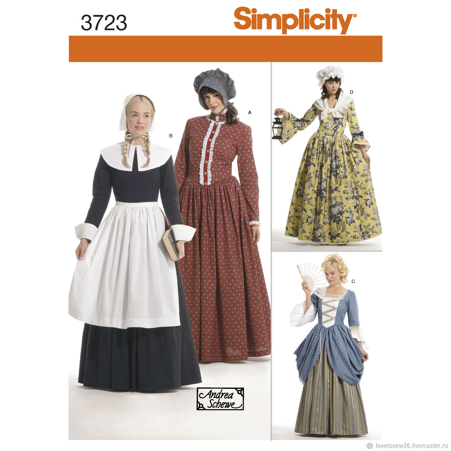 SEWING PATTERN Historic Costumes Early America French Revolution S3723, Sewing patterns, St. Petersburg,  Фото №1