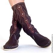 Обувь ручной работы. Ярмарка Мастеров - ручная работа сапоги на межсезонье /коричневые/ 40. Handmade.