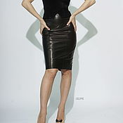 Одежда handmade. Livemaster - original item Pencil skirt high waist black. Handmade.