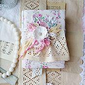 Наборы ручной работы. Ярмарка Мастеров - ручная работа Подарки: Блокнот в стиле шебби шик. Handmade.
