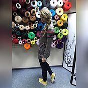 Одежда ручной работы. Ярмарка Мастеров - ручная работа Джемпер вязаный  с карманами №169 из 30% итальянской шерсти. Handmade.