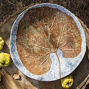 Посуда ручной работы. Ярмарка Мастеров - ручная работа керамическое блюдо Октябрь. Handmade.