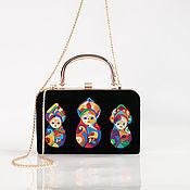 Сумки и аксессуары handmade. Livemaster - original item Velvet handbag-clutch