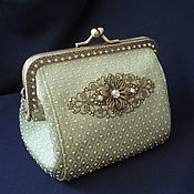 Сумки и аксессуары handmade. Livemaster - original item Wallet-cosmetic bag with clasp