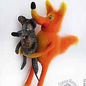 Куклы и игрушки ручной работы. Ярмарка Мастеров - ручная работа Лис и мышонок. Handmade.