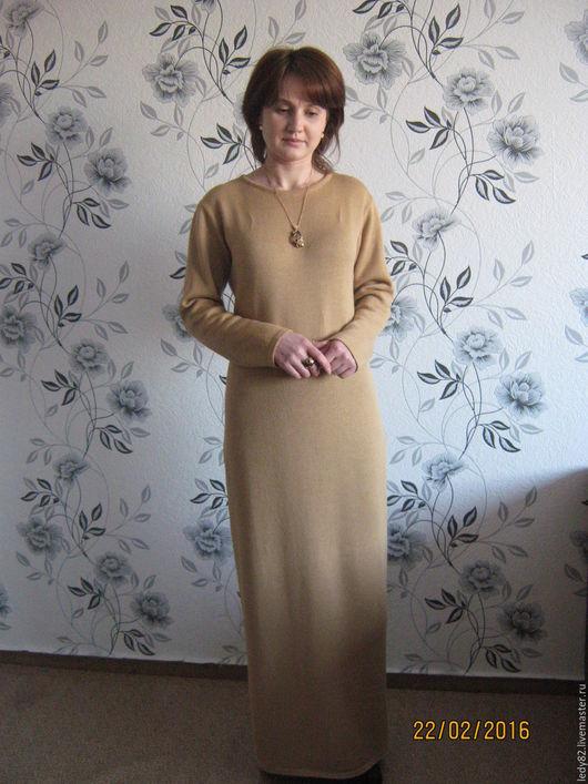 """Платья ручной работы. Ярмарка Мастеров - ручная работа. Купить Платье """"Силуэт-2"""". Handmade. Бежевый, платье длинное в пол"""