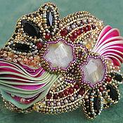 Украшения handmade. Livemaster - original item Bead embroidered shibori bracelet Princess`s promise. Handmade.