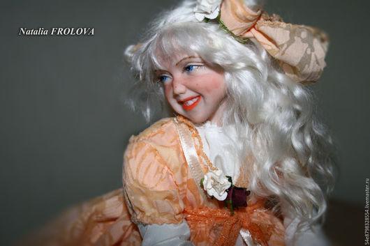 Коллекционные куклы ручной работы. Ярмарка Мастеров - ручная работа. Купить персиковое настроение. Handmade. Комбинированный, подарок для девушки