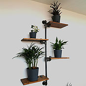 Для дома и интерьера handmade. Livemaster - original item Copy of Copy of Industrial style wall shelves made of wood and pipes.. Handmade.