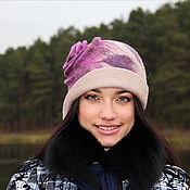 Шляпы ручной работы. Ярмарка Мастеров - ручная работа Шляпа Пурпурная Роза Каира. Handmade.