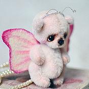 Куклы и игрушки ручной работы. Ярмарка Мастеров - ручная работа Мишка-бабочка Бо-Бо. Handmade.