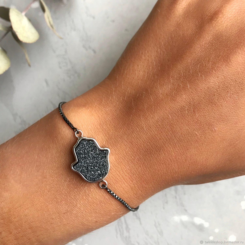 Bracelets: Hamsa Druze of pyrite, Bead bracelet, Moscow,  Фото №1
