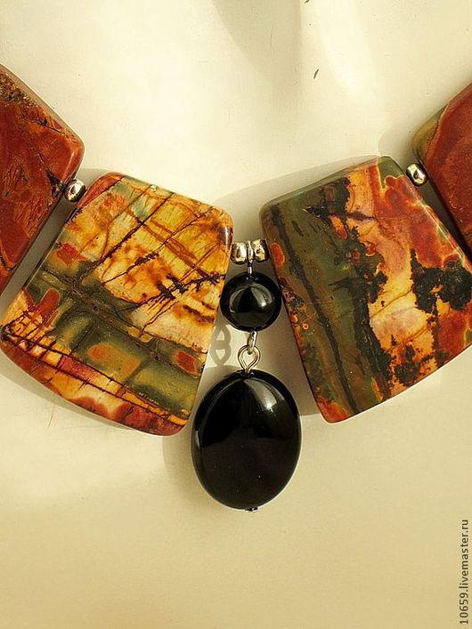 Колье, бусы ручной работы. Ярмарка Мастеров - ручная работа. Купить ожерелье из яшмы ОЛИВИЯ. Handmade. Украшения, Ожерелье из камней