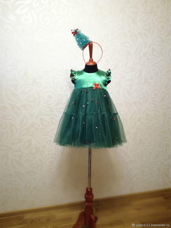 3c0858e6796 Детские карнавальные костюмы ручной работы. Ярмарка Мастеров - ручная  работа. Купить Платье ёлочка 104 ...