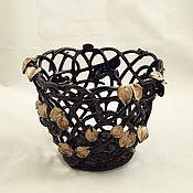 Цветы и флористика handmade. Livemaster - original item Pots the Leaves in chocolate. Handmade.