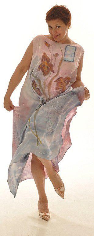 """Платья ручной работы. Ярмарка Мастеров - ручная работа. Купить Платье- трансформер """"окна Души """". Handmade. Батик"""