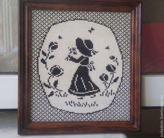 Люди, ручной работы. Ярмарка Мастеров - ручная работа. Купить Девочка с цветком. Handmade. Чёрно-белый, купить картину